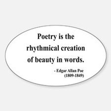 Edgar Allan Poe 2 Oval Decal