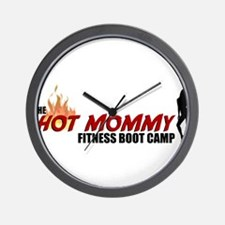 Hot Mommy Fitness Boot Camp Wall Clock