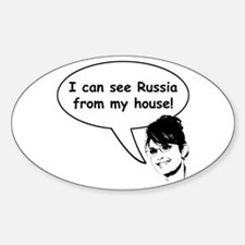 Palin sees Russia Oval Decal