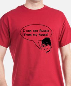 Palin sees Russia T-Shirt