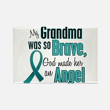 Angel 1 TEAL (Grandma) Rectangle Magnet