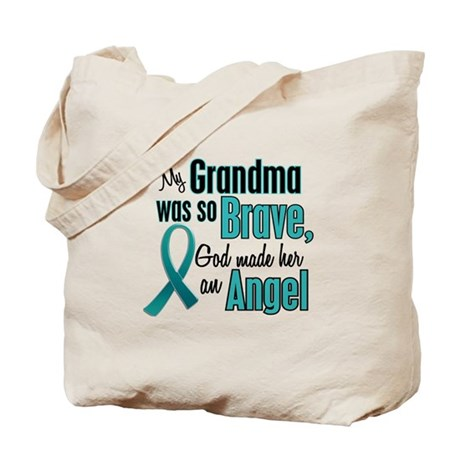 Angel 1 TEAL (Grandma) Tote Bag