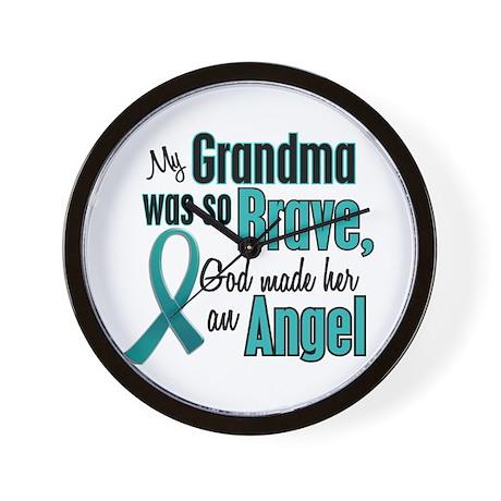 Angel 1 TEAL (Grandma) Wall Clock
