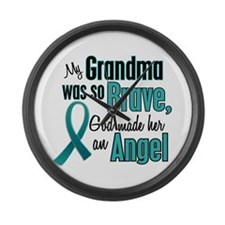 Angel 1 TEAL (Grandma) Large Wall Clock