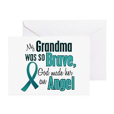 Angel 1 TEAL (Grandma) Greeting Cards (Pk of 20)
