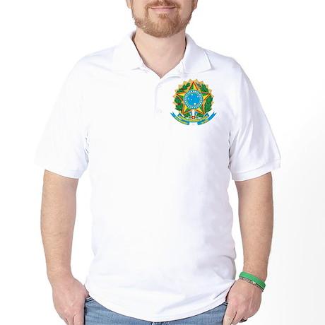Brazil Coat Of Arms Golf Shirt