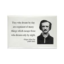 Edgar Allan Poe 3 Rectangle Magnet