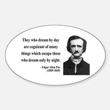 Edgar Allan Poe 3 Oval Decal