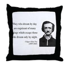 Edgar Allan Poe 3 Throw Pillow