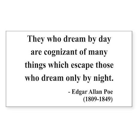 Edgar Allan Poe 3 Rectangle Sticker