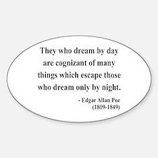 Edgar Allan Poe 3 Oval Decal