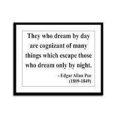 Edgar Allan Poe 3 Framed Panel Print