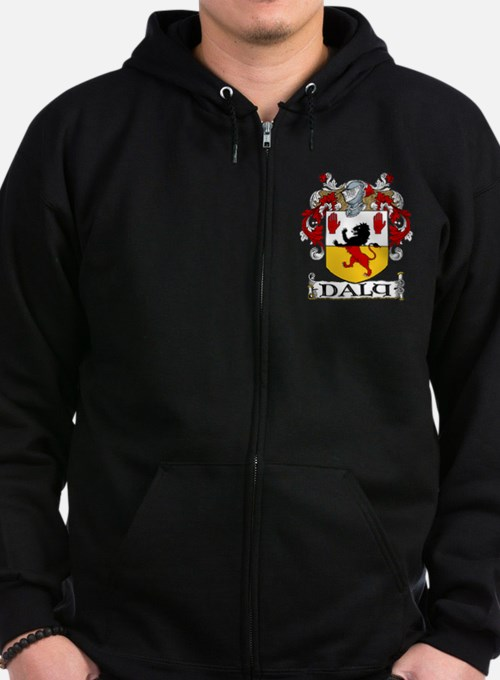 Daly Coat of Arms Zip Hoodie (dark)
