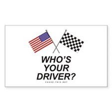 Who's Your Driver Rectangle Decal