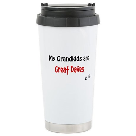 Great Dane Grandkids Stainless Steel Travel Mug