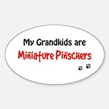 Min Pin Grandkids Oval Decal