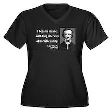 Edgar Allan Poe 7 Women's Plus Size V-Neck Dark T-