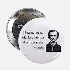 "Edgar Allan Poe 7 2.25"" Button (10 pack)"