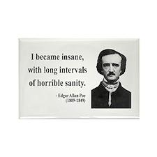 Edgar Allan Poe 7 Rectangle Magnet (10 pack)