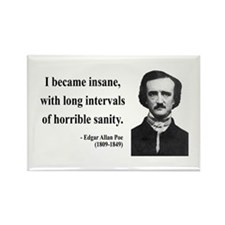 Edgar Allan Poe 7 Rectangle Magnet