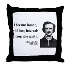 Edgar Allan Poe 7 Throw Pillow