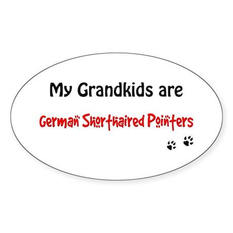 GSP Grandkids Oval Sticker