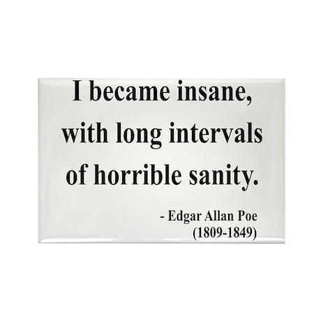 Edgar Allan Poe 7 Rectangle Magnet