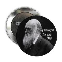 Darwin Day Button - Dark