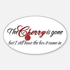 The Cherry is Gone Oval Decal