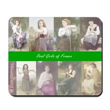 BOUGUEREAU Real Girls of France Mousepad