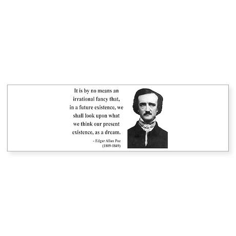 Edgar Allan Poe 4 Bumper Sticker