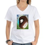 Opal Jacobin Pigeon Women's V-Neck T-Shirt