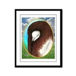 Opal Jacobin Pigeon Framed Panel Print