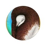 "Opal Jacobin Pigeon 3.5"" Button"