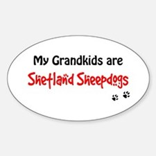 Sheltie Grandkids Oval Decal