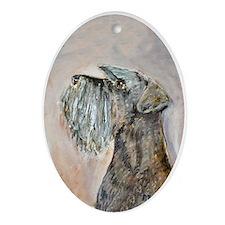 Miniature Schnauzer Oval Ornament