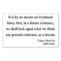 Edgar Allan Poe 4 Rectangle Decal