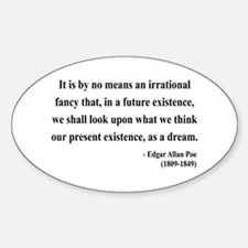 Edgar Allan Poe 4 Oval Decal