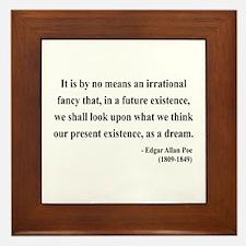 Edgar Allan Poe 4 Framed Tile