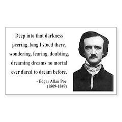 Edgar Allan Poe 5 Rectangle Decal