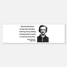 Edgar Allan Poe 5 Bumper Bumper Bumper Sticker