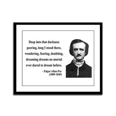 Edgar Allan Poe 5 Framed Panel Print