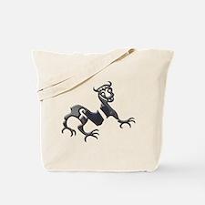 Novgorod Dragon-black chrome Tote Bag