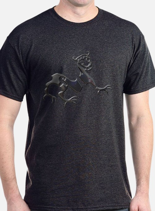 Novgorod Dragon-black chrome T-Shirt