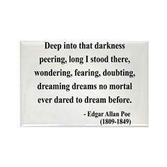 Edgar Allan Poe 5 Rectangle Magnet (100 pack)