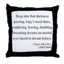 Edgar Allan Poe 5 Throw Pillow