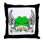 Lucky Tattoo Throw Pillow