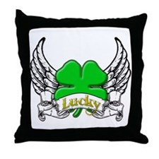 Lucky Tattoo Throw Pillow