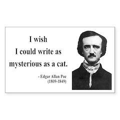 Edgar Allan Poe 6 Rectangle Decal