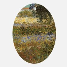 Van Gogh Flowering Garden Ornament (Oval)